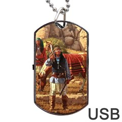 Apache Braves Dog Tag Usb Flash (one Side)