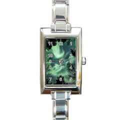 Northern Lights In The Forest Rectangle Italian Charm Watch