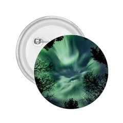 Northern Lights In The Forest 2 25  Buttons