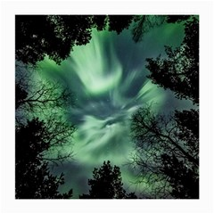 Northern Lights In The Forest Medium Glasses Cloth (2 Side)