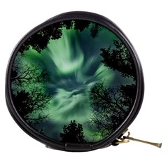 Northern Lights In The Forest Mini Makeup Bags