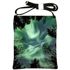 Northern Lights In The Forest Shoulder Sling Bags