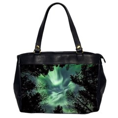 Northern Lights In The Forest Office Handbags (2 Sides)