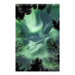 Northern Lights In The Forest Shower Curtain 48  X 72  (small)