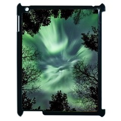 Northern Lights In The Forest Apple Ipad 2 Case (black)