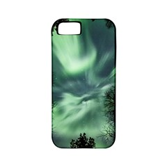 Northern Lights In The Forest Apple Iphone 5 Classic Hardshell Case (pc+silicone)