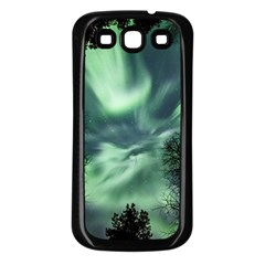 Northern Lights In The Forest Samsung Galaxy S3 Back Case (black)