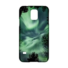 Northern Lights In The Forest Samsung Galaxy S5 Hardshell Case