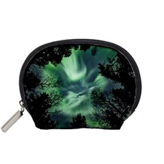 Northern Lights In The Forest Accessory Pouches (small)