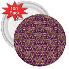 Flower Kaleidoscope 2 01 3  Buttons (100 Pack)