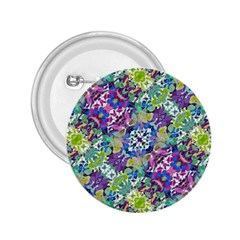 Colorful Modern Floral Print 2 25  Buttons