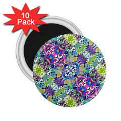 Colorful Modern Floral Print 2 25  Magnets (10 Pack)