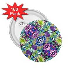 Colorful Modern Floral Print 2 25  Buttons (100 Pack)