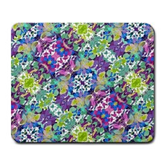 Colorful Modern Floral Print Large Mousepads