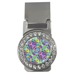 Colorful Modern Floral Print Money Clips (cz)