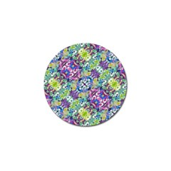Colorful Modern Floral Print Golf Ball Marker (10 Pack)