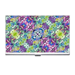 Colorful Modern Floral Print Business Card Holders