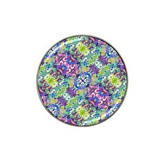Colorful Modern Floral Print Hat Clip Ball Marker