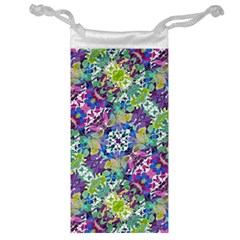 Colorful Modern Floral Print Jewelry Bag