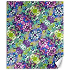 Colorful Modern Floral Print Canvas 8  X 10