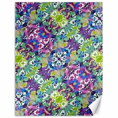 Colorful Modern Floral Print Canvas 18  X 24