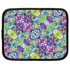 Colorful Modern Floral Print Netbook Case (large)