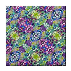 Colorful Modern Floral Print Face Towel