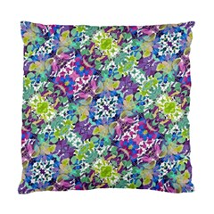 Colorful Modern Floral Print Standard Cushion Case (two Sides)