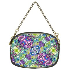 Colorful Modern Floral Print Chain Purses (two Sides)