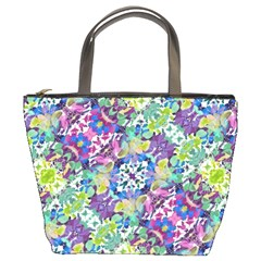 Colorful Modern Floral Print Bucket Bags