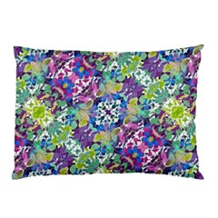 Colorful Modern Floral Print Pillow Case