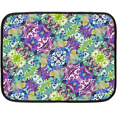Colorful Modern Floral Print Double Sided Fleece Blanket (mini)
