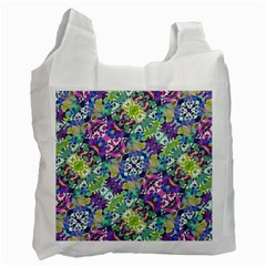 Colorful Modern Floral Print Recycle Bag (one Side)