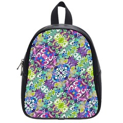 Colorful Modern Floral Print School Bag (small)