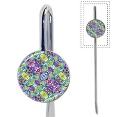 Colorful Modern Floral Print Book Mark