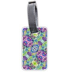 Colorful Modern Floral Print Luggage Tags (one Side)