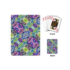 Colorful Modern Floral Print Playing Cards (mini)