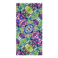 Colorful Modern Floral Print Shower Curtain 36  X 72  (stall)