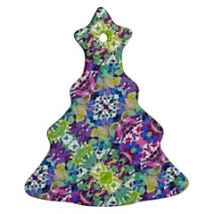 Colorful Modern Floral Print Ornament (christmas Tree)