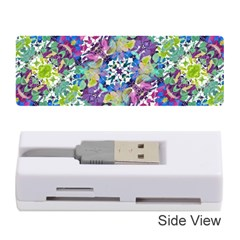 Colorful Modern Floral Print Memory Card Reader (stick)