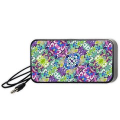 Colorful Modern Floral Print Portable Speaker