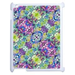 Colorful Modern Floral Print Apple Ipad 2 Case (white)