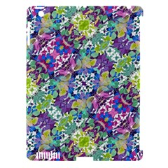 Colorful Modern Floral Print Apple Ipad 3/4 Hardshell Case (compatible With Smart Cover)
