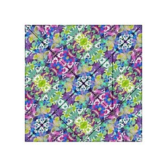 Colorful Modern Floral Print Acrylic Tangram Puzzle (4  X 4 )