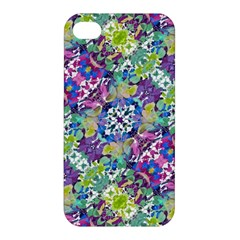 Colorful Modern Floral Print Apple Iphone 4/4s Premium Hardshell Case