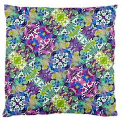 Colorful Modern Floral Print Large Cushion Case (two Sides)