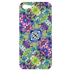 Colorful Modern Floral Print Apple Iphone 5 Hardshell Case