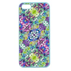 Colorful Modern Floral Print Apple Seamless Iphone 5 Case (color)