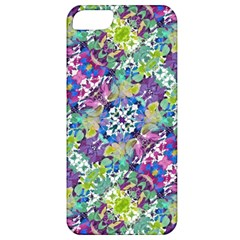 Colorful Modern Floral Print Apple Iphone 5 Classic Hardshell Case