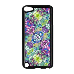Colorful Modern Floral Print Apple Ipod Touch 5 Case (black)